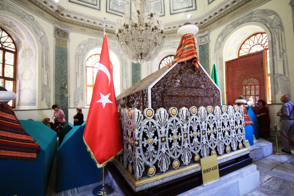 Osman Gazi tomb is in Bursa province, which was the second capital of the Ottoman Empire.