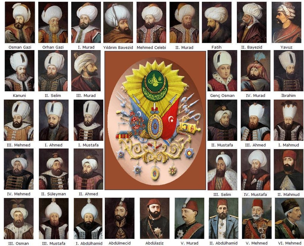Ottoman Empire Sultans list